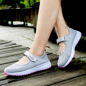 Image 4 - MWY Women Casual Shoes Fashion Breathable knitted Women Sneakers Hook Loop Soft Trainers Outdoor Walking Shoes Chaussure Femme