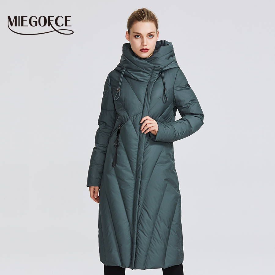 MIEGOFCE 2019 New Collection Women Coat With a Resistant Windproof Collar Women   Parka   Very Stylish Women's Winter Jacket