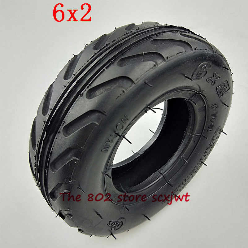 2 Set of 6x2 Heavy Duty Inner Tubes with Bent Valve Stem Replacement for Pneumatic Tyre Scooter F0 Pneumatic Wheel Trolley Cart Air Wheel