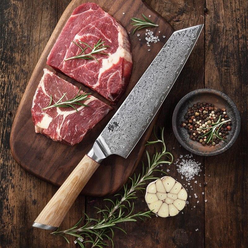 67 layer steel V gold 10 Damascus kitchen knife chef Knives Gyuto Santoku Cleaver Paring Steak Slicing Utility Boning Salmon|Kitchen Knives| |  - title=