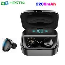 X7 TWS Fingerprint Touch Bluetooth Earbuds True Wireless Earphone with Volume Control 2200mAh Power Bank Long Working Distance цены