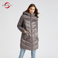 MODERN NEW SAGA 2020 Women Winter Jacket Hooded Cotton Padded Coat Winter Jacket Women Long Parkas Overcoat Ladies Winter Coats