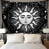 Skeleton Tapestry Wall Hanging Room Witchcraft Throw Rug Carpet Sun Tapestries Art Psychedelic Home Decoration Accessories 5