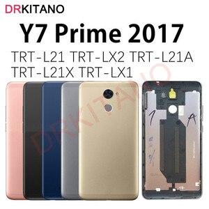 Image 1 - Dla Huawei Y7 Prime 2017 tylna pokrywa baterii obudowa tylna obudowa TRT L21 L21A LX2 LX1 LX3 Y7 Prime 2017 pokrywa baterii