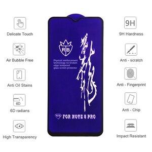 Image 5 - Verre trempé 6D pour Xiaomi Mi 10t Pro 9 Mi9 A2 Lite Play mix 2s 3 Poco X3 C3 Redmi 9c Note 8 9 Pro 7 8t protecteur décran en verre