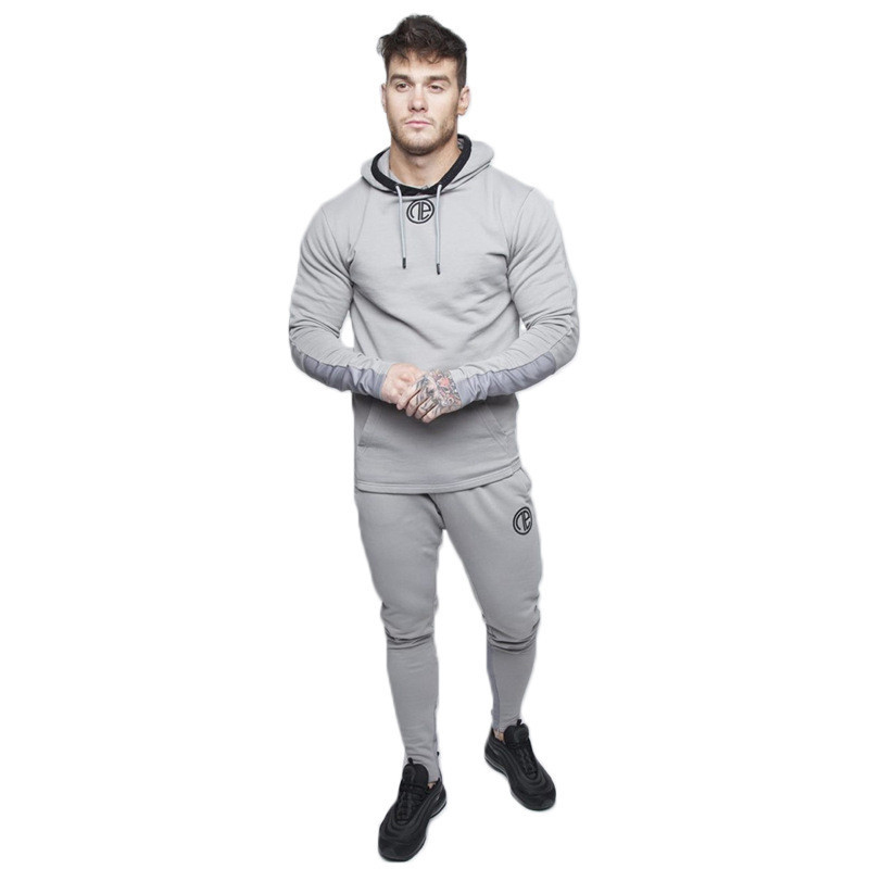 Fashion suit running men 39 s clothing suit fitness sportswear sportswear fitness bodybuilding men 39 s hoodie two piece jogging men 39 s in Men 39 s Sets from Men 39 s Clothing