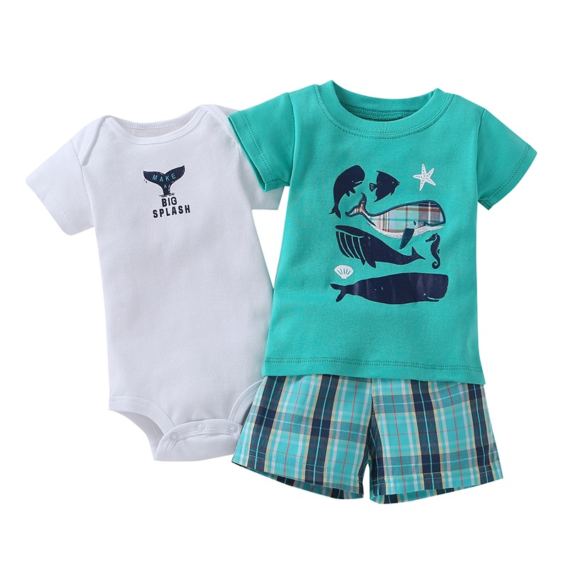 3 pcs suit Newborn Baby Romper Summer Set 20
