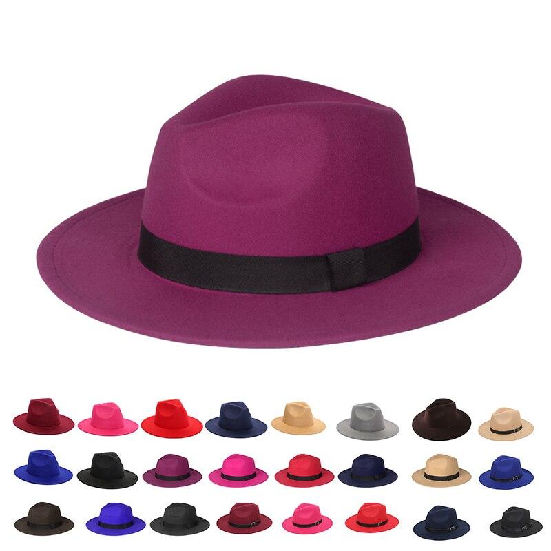 Fedora chapéu feminino dos homens na moda igreja sombrero mujer cavalheiro derby vintage preto senhoras aba larga panamá vintage 1920 chapéus