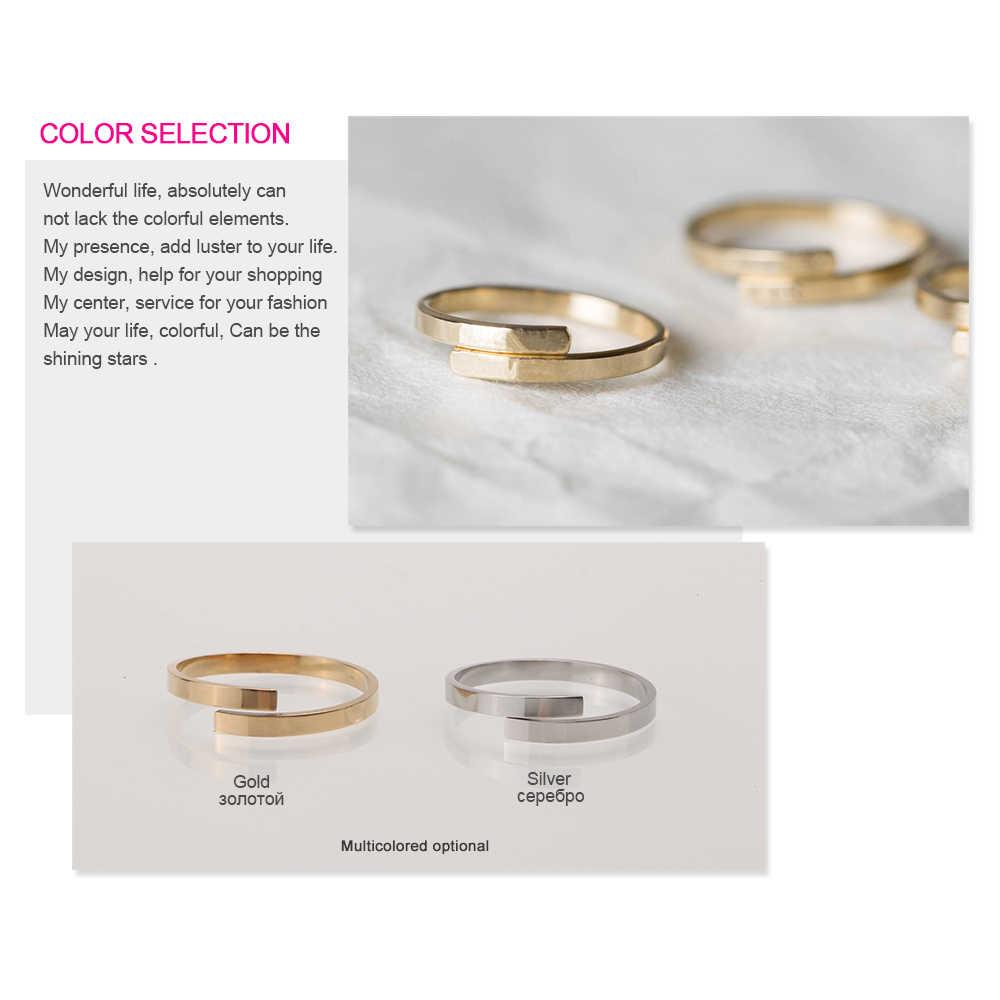 แหวนตัวอักษรที่กำหนดเองแหวน/Forever คนรัก/หมั้น/ปรับสแตนเลสหญิงแหวนผู้หญิงอุปกรณ์เสริม