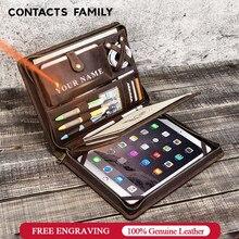 Étui en cuir à fermeture éclair pour iPad Pro 10.5 Air 3 10.2, pochette de protection de tablette, support de Journal, Vintage, 9.7 pouces, Air 2