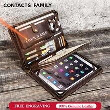 """Étui en cuir Vintage pour iPad Pro 11 10.5 Air 3 10.2 """"protecteur de tablette pour iPad 9.7 Air 2 porte Journal à glissière"""