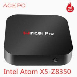Мини-ПК Windows 10 Wintel Pro Atom Intel четырехъядерный X5-Z8350 1,84 ГГц 4 Гб/64 Гб Dual 2,4G/5G WIFI 100M LAN настольные компьютеры мини ПК