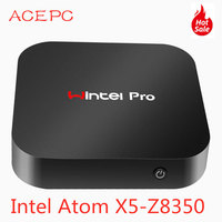 Mini PC Windows10 Wintel Pro Atom Intel Quad Core X5 Z8350 1.84GHz 4GB/64GB Dual 2.4G/5G WIFI 100M LAN Desktop Computers PC mini