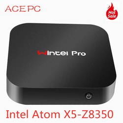 Mini PC Windows10 Wintel Pro Atom Intel Quad Core X5-Z8350 1.84GHz 4 GB/64 GB Dual 2.4G /5G WIFI 100M LAN Computer Desktop PC mini
