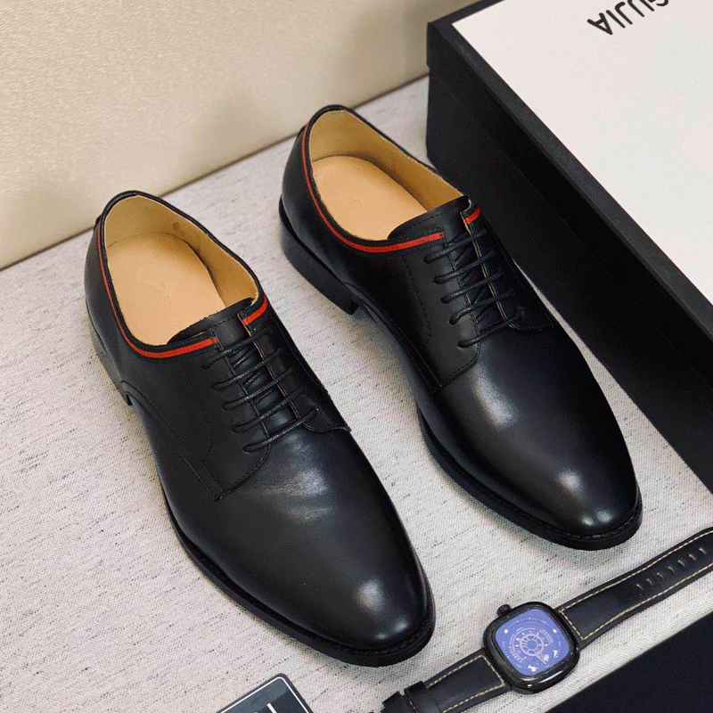 Quality Of Handmade Shoes Counter Of Head Of High-end Department Of Italian Gujia 2020 New  Business Dress Genuine Leather Shoes