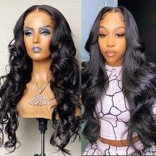 Парики Wigirl на сетке длиной 30, 32 дюйма, 4x4, бразильские свободные человеческие волосы 13x4