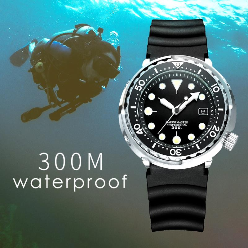 NH35 Mechanical Wristwatch 300m Dive Watch Mechanical Steel Stainless Case Sapphire Glass Automatic Watch Steel Diving - 5
