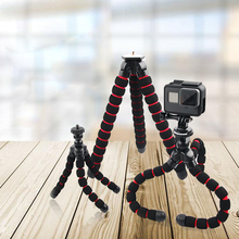 For GoPro Flexible Mini Octopus Tripod With Screw Mount Adapter For Go Pro Hero 7 6 5 4 3+ For Xiaomi yi SJCAM Camera