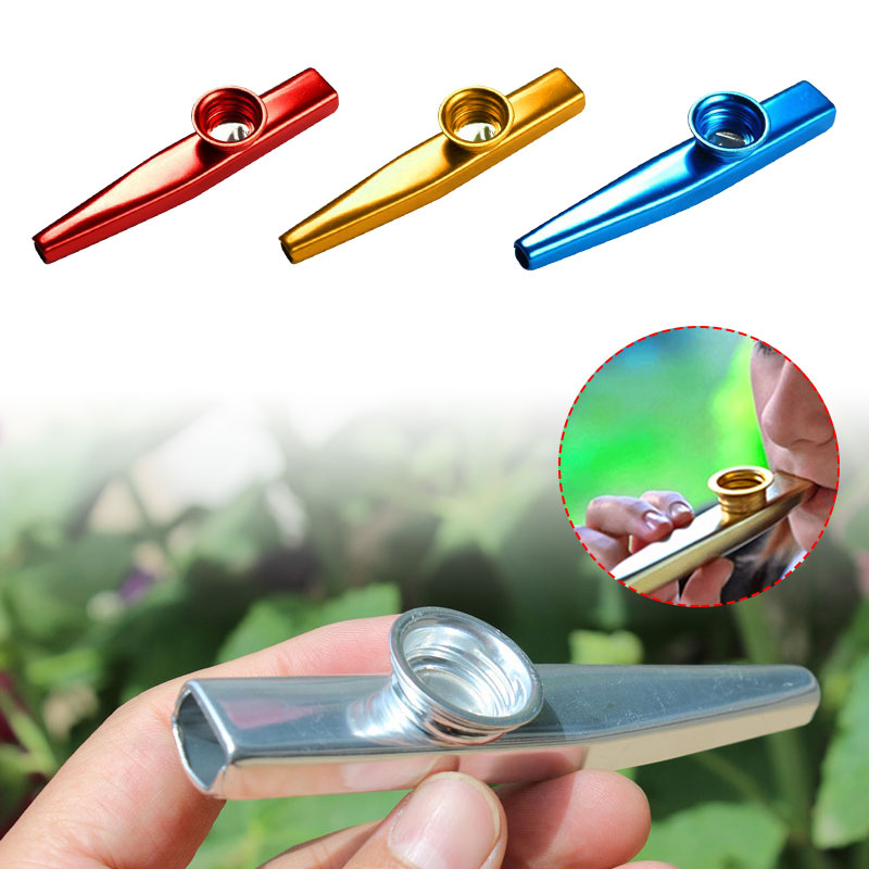 Durable Alloy Aluminum Toy Gift Kazoo Flute Starter Guitar Instrume Adult Teaching Professional Learner image