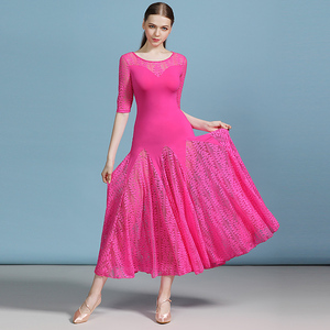 Image 4 - 安い社交ドレスラテンタンゴ衣装フラメンコドレスワルツ格安ダンス衣装フォックストロットダンスドレスドレス女性ダンスの摩耗のレース
