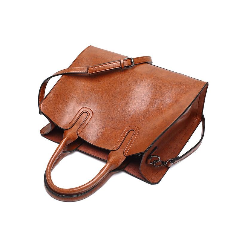 Sacs à main femmes en cuir véritable sac à bandoulière pour femmes poche zippée grande capacité mode 2020 noir femmes sac à provisions - 6