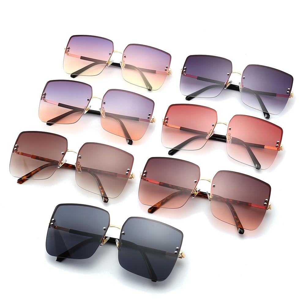 2020 New Square Sunglasses Women Brand Designer Big Frame Gradient Vintage Sun Glasses For Women Oculos De Sol Feminino UV400