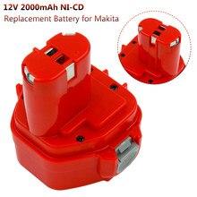 Batterie de remplacement Pour Makita 12V 2000mAh Ni CD piles Rechargeables Outils Électriques Bateria PA12 1220 1222 1235 1233S 6271D