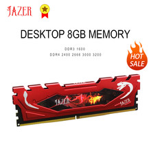 JAZER Memoria Ram DDR3 1600mhz DDR4 8gb 2400mhz 2666mhz 16gb 3000mhz 3200mhz Desktop Memory Computer Ram With Heatsink