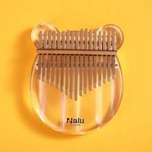 Nalu-Piano Kalimba acrílico de 17 teclas, Pulgar, NK-BE, oso de cristal/gato, acrílico colorido, Mbira, transparente, instrumento de teclado