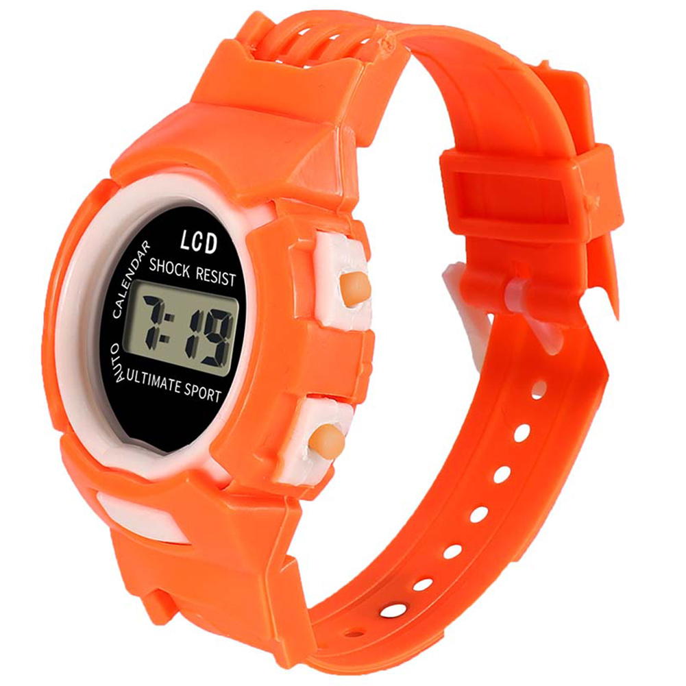 Fashion And Durable Kids Casual Electronic Watch Children Comfortable Silicone Sports Cute Watches S55