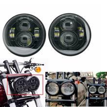 Para davidson dyna gordura bob preto 4.65 polegada estilo do motor cabeça luzes para fxdf dyna fatbob led projetor motor