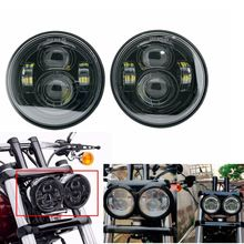 Voor Davidson Dyna Fat Bob Zwart 4.65 Inch Motor Stijl Hoofd Verlichting Voor Fxdf Dyna Fatbob Led Motor Projector