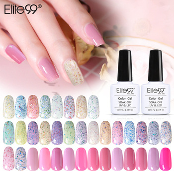 Elite99 10ml Bunte Käse Nagel Gel Polish Top Basis Mantel Benötigt Nail art Lack Semi Permanent Semi Permanent Nagel polituren