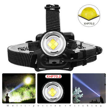 XHP70.2 headlamp most powerful led headlight 3 modes Zoom lamp Waterproof Head Torch flashlight Head lamp use 18650 For camping - DISCOUNT ITEM  48% OFF All Category