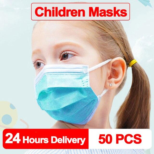 10-100 PCS Kid Mask Fast Delivery Disposable Protective Mask to Safety Masks Dustproof Children Masks Child Prevent Disease Mask