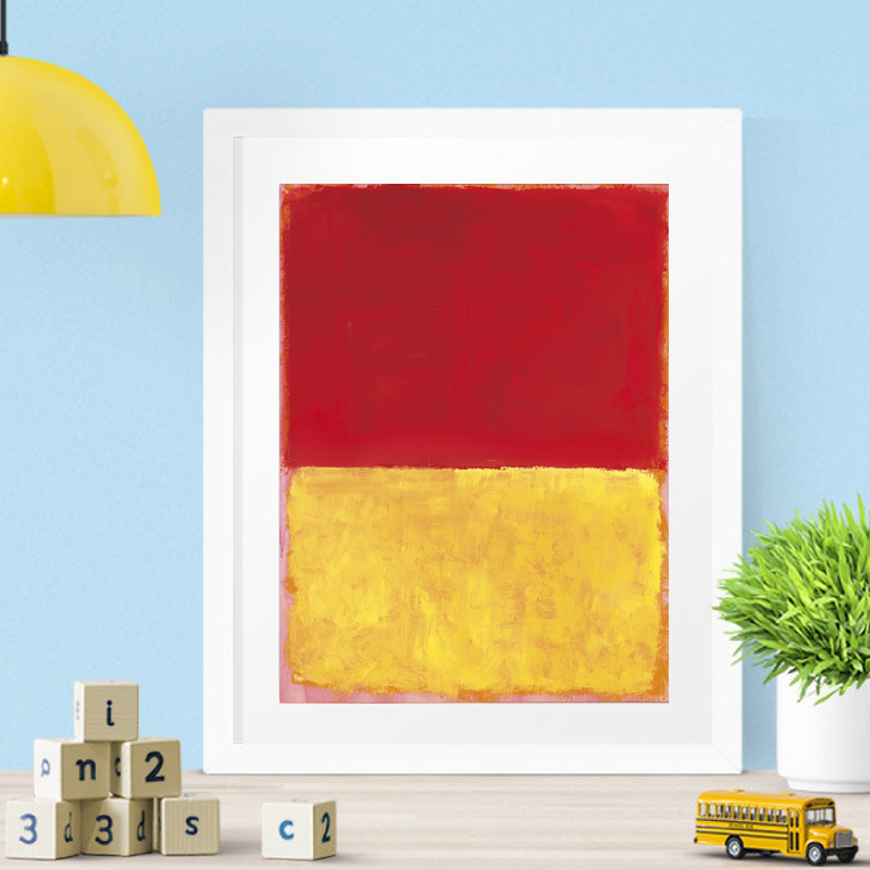 Marker Rothkoes Untitled Classical Canvas Posters Prints Wall Art Painting Decorative Picture Modern Living Room Home Decoration