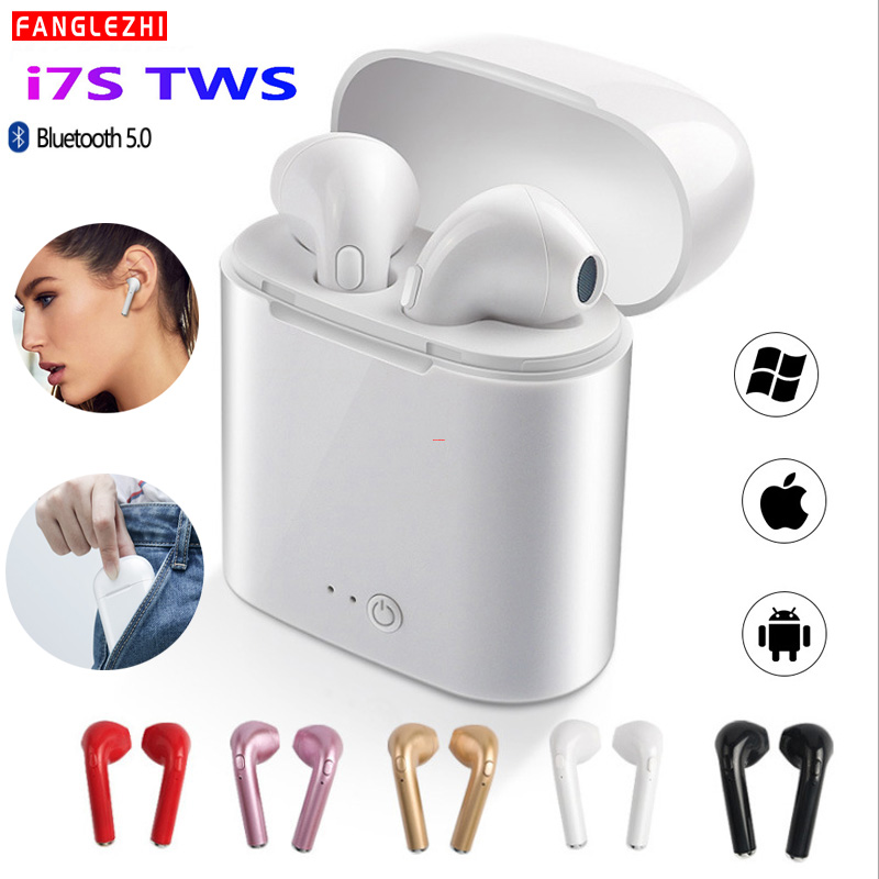 Mini <font><b>Bluetooth</b></font> Headphones Wireless I7 <font><b>i7s</b></font> <font><b>TWS</b></font> <font><b>Bluetooth</b></font> <font><b>Earphone</b></font> Sport <font><b>Stereo</b></font> Earbuds Headset with Charging for All Smart Phone image