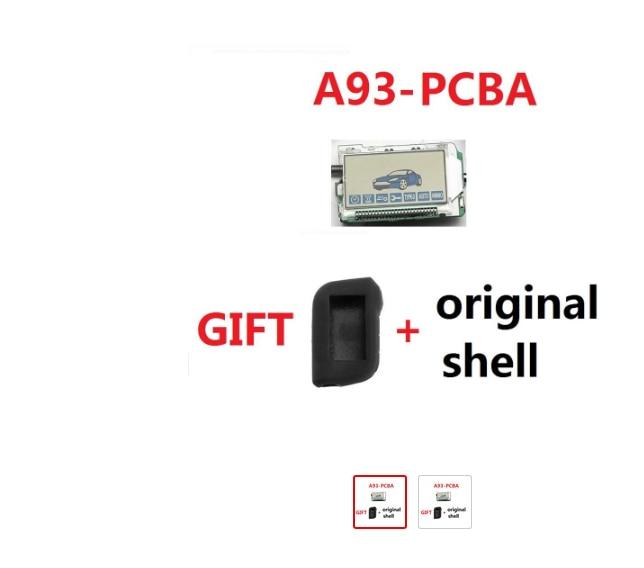 Burglar Alarm Keychain A93 Remote Control + Silicone Case For Two Way Anti-theft Car Alarm System Starline A93