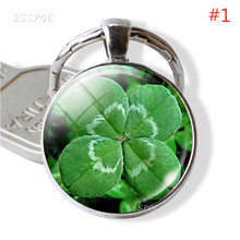 Car Keychain Clover Four Leaf Women Girls Accessories Lucky Keyrings Jewelry Christmas Gift Graduation