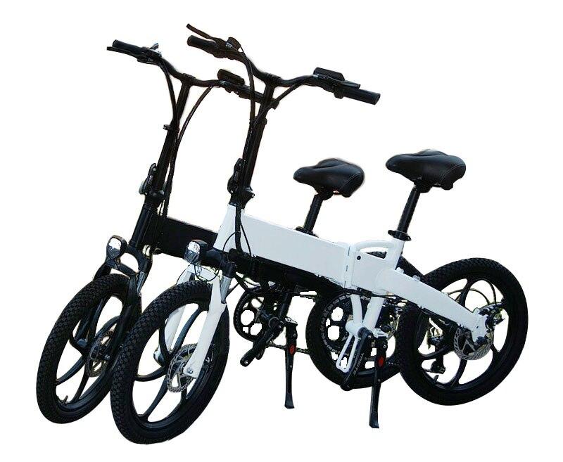 В европейском и американском стиле России 20 ''Электрический складной велосипед 48V двигатель 7 Скорость шестерни для е-байка передние и задние дисковые тормоза магниевого сплава колеса - Цвет: white customized
