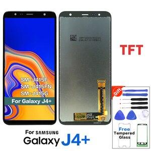 Image 1 - ЖК дисплей TFT для Samsung Galaxy J4 + J4 Plus J415 J415F / J6 Prime J6 Plus 2018 J610, ЖК дисплей с сенсорным экраном J4 Core J410