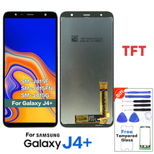 Tela lcd tft para samsung galaxy, j4 + j4 plus j415 j415f/j6 prime j6 plus 2018 j610 tela de toque j4 core lcd j410