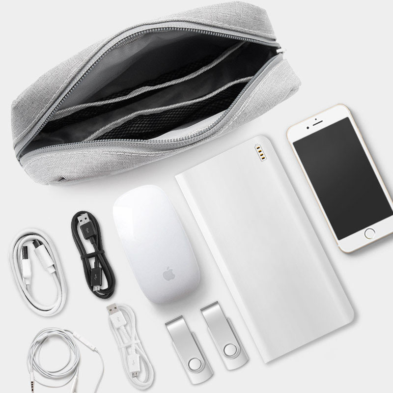 Storage Organizer Case Charger Cosmetic-Pouch Earphone Laptop Usb-Cable Digital Travel