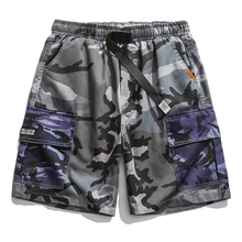 2021 summer new casual five-point pants contrast stitching camouflage loose shorts men