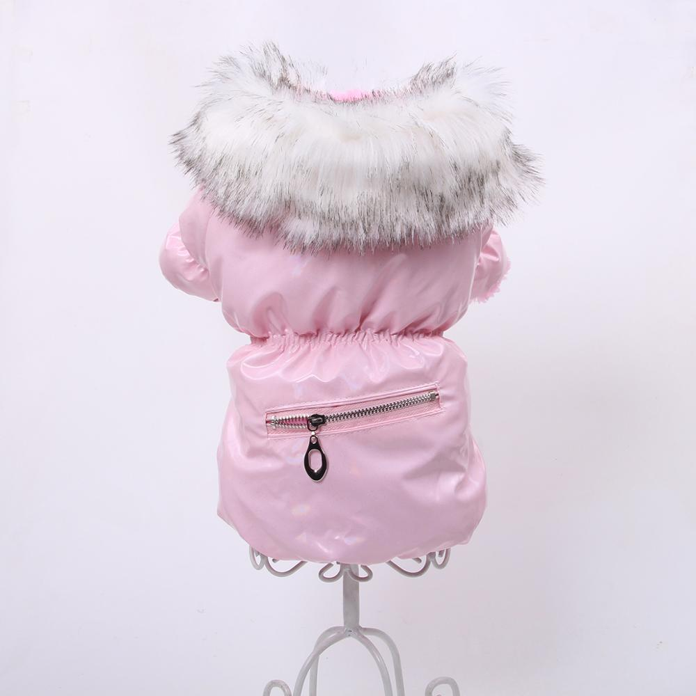 New PU Leather Dog Cat Coat Jacket with Zipper Pocket Design Pet Puppy Dress Hoodie Warm Clothes Apperal 6 Sizes 3 Colours
