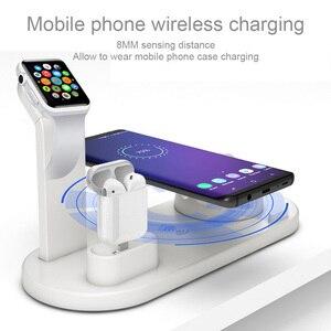 Image 2 - 3 で 1 ワイヤレス充電ドックのため iwatch 時計 5 4 2 と airpods iphone 11 プロ max x xr xs 8 プラスドッキングステーション充電器