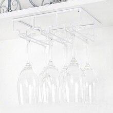 Storage-Hanger Glasses Metal-Organizer Cabinet Wine Kitchen Rack-Under for Bar White
