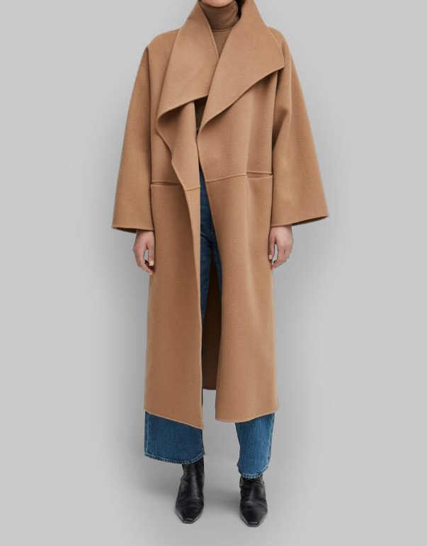 Women Trench Nordic Wool Cashmere Double-faced Long Coat (without label)