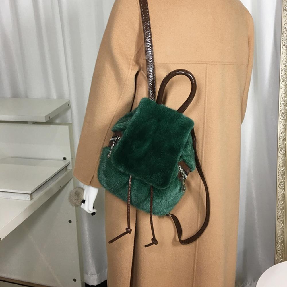 vison sacos de ombro genuíno couro mochila senhora alta qualidade s7977