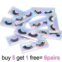 3D Fake Eyelashes Full Strip Hand Made Soft Natural Lashes in Bulk Fluffy Wispy Eyelash Extension Makeup Cilia